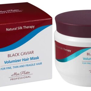 Mon Platin Black Caviar Volumizer Hair Mask For Fine, Thin & Fragile Hair 500ml
